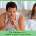 Что такое простатит — первые признаки и диагностика